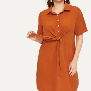 Forever 21 Brown Squash Tunic Sz S